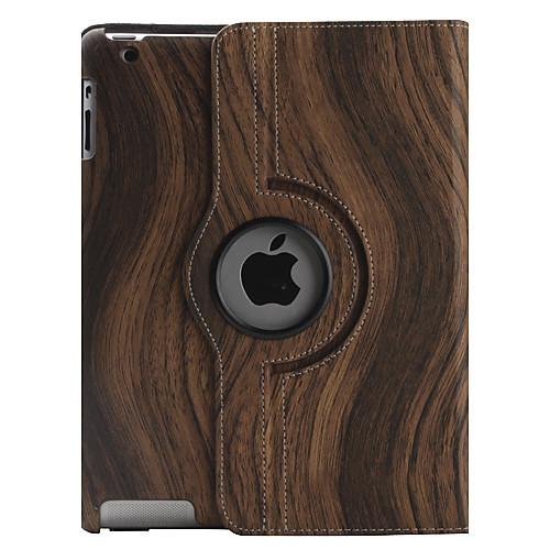 Текстура древесины Pattern PU кожаный чехол с подставкой для iPad 2 и новый IPAD (разные цвета)