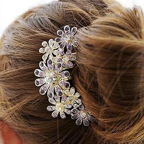 Гребень для волос из сплава в форме цветов со стразами (размер 108.5см) Lightinthebox 193.000