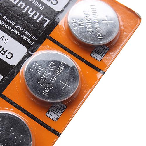 CR2032 3V литиевый элемент питания (5шт) Lightinthebox 64.000
