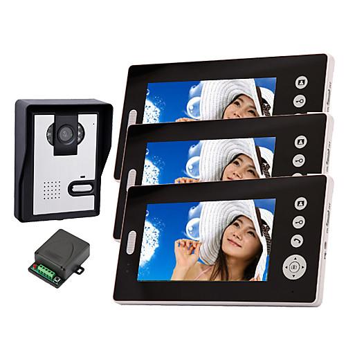 Беспроводная камера ночного видения с 7-дюймовый монитор телефон двери (1camera 3 монитора) Lightinthebox 14180.000