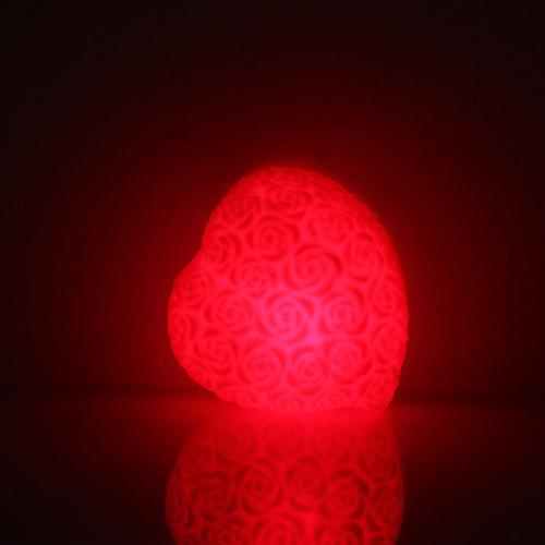 Rose Heart Shaped Красочный светодиодные лампы ночь (3xLR44) Lightinthebox 85.000