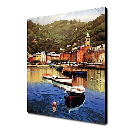 Ручная роспись маслом пейзаж Морской пейзаж 1211-LS0199 Lightinthebox 3866.000