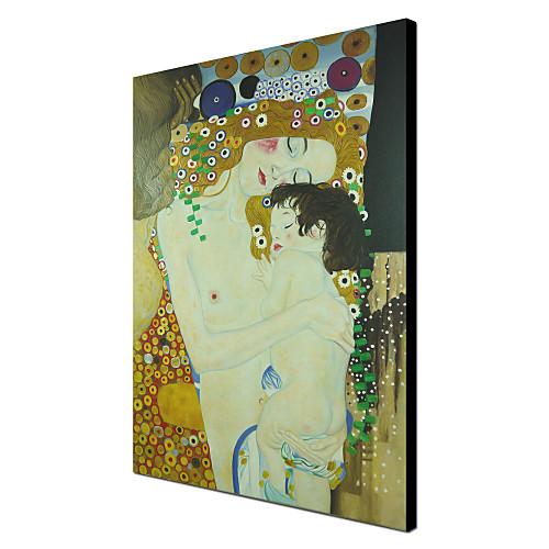 Мать и дитя (Детали из трех веков женщина) C1905 Густава Климта Качество музей с золотой фольгой Lightinthebox 5585.000