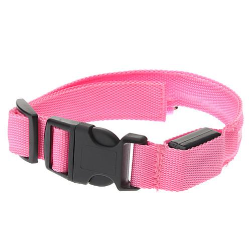 Регулируемые высокого качества нейлона светодиодный ошейник для собак (розовый) Lightinthebox 321.000