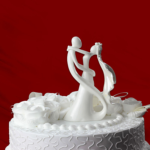 Невеста и жених керамические фигурки свадебный торт цилиндр Lightinthebox 644.000