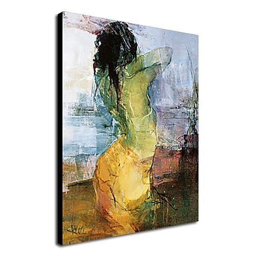 Картина, ручная роспись маслом, изображение человека, растянутая рамка Lightinthebox 2577.000
