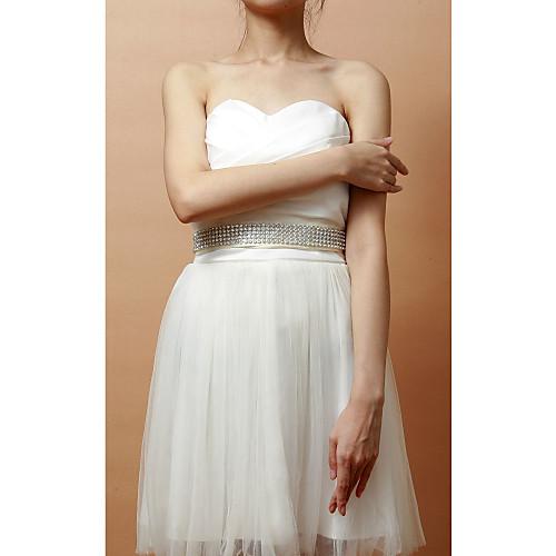 Довольно атласные / Crystal Женская Свадьба / Вечерние пояса (больше цветов) Lightinthebox 837.000