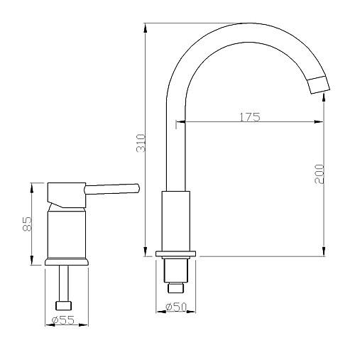Современные хромированная отделка одной ручкой Широкое кран раковины ванной комнаты Lightinthebox 4296.000