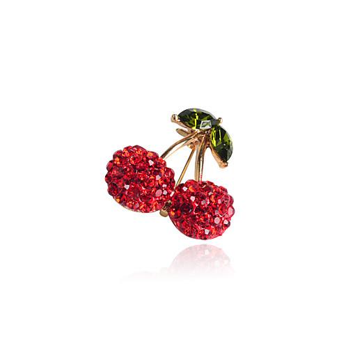 Red Cherry Циркон сплава Брошь Lightinthebox 257.000