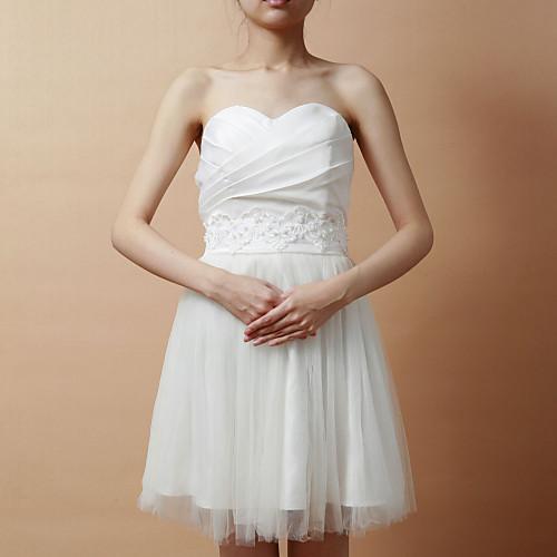 Романтическая Satin / Lace Женская Вечерние / свадебные пояса с жемчугом (больше цветов) Lightinthebox 437.000