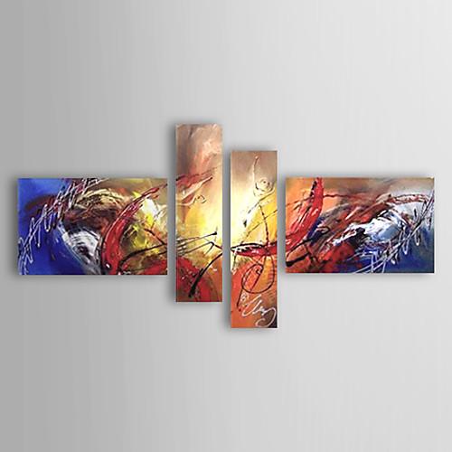 ручная роспись абстрактная картина маслом с растянутыми кадр - комплект из 4 Lightinthebox 5585.000