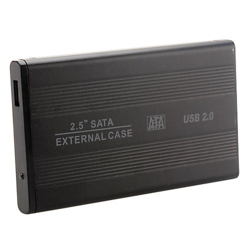 Чехол на 2.5 SATA HDD внешний жесткий диск из алюминия USB 2.0 Lightinthebox 171.000