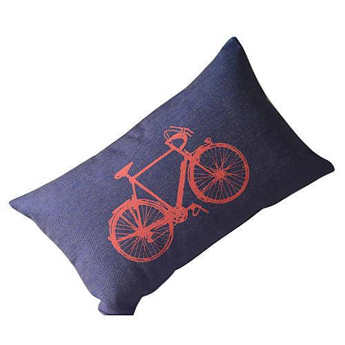 страна велосипед хлопок / лен декоративной крышкой подушку Lightinthebox 558.000