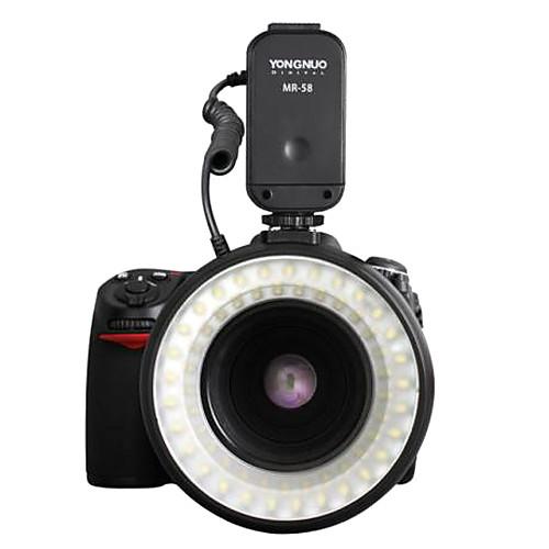 MR-58 58PCS светодиодная вспышка Macro Ring света для Canon 600D 5D MarkII Nikon D7000 D90 Lightinthebox 1933.000