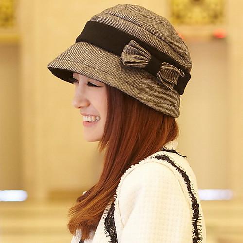 оболочке женщин шерсть твид лук берет шляпу Lightinthebox 1353.000