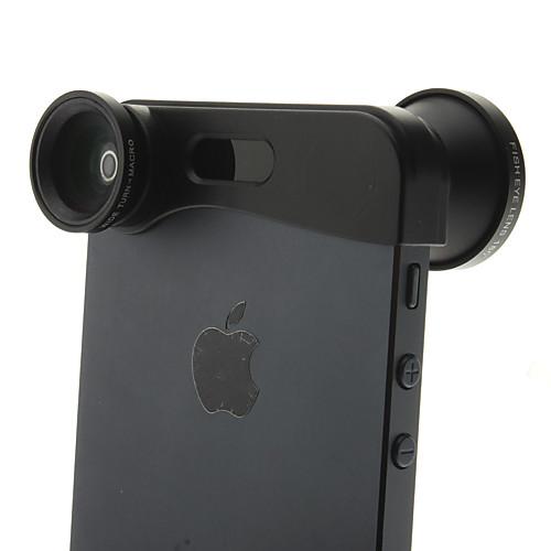 3-в-1 для быстрой смены объектива камеры для iPhone 5/5s (Рыбий глаз, широким углом и макро-объектив) Lightinthebox 515.000