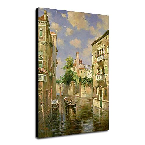 Ручная роспись маслом Пейзаж Венеции 1211-LS0146 Lightinthebox 5156.000
