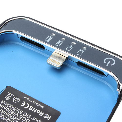 Чехол с внешней батареей для iPhone 5 (синий, пластик) Lightinthebox 405.000