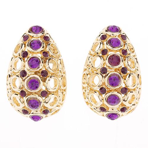 Сделка компании Apple Добавлена фиолетовый Серьги циркон и Set кулон ювелирные изделия