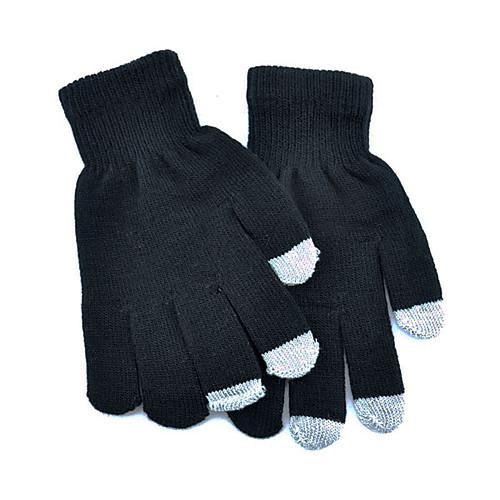 Черный мужской сенсорный экран трикотажные перчатки Lightinthebox 128.000
