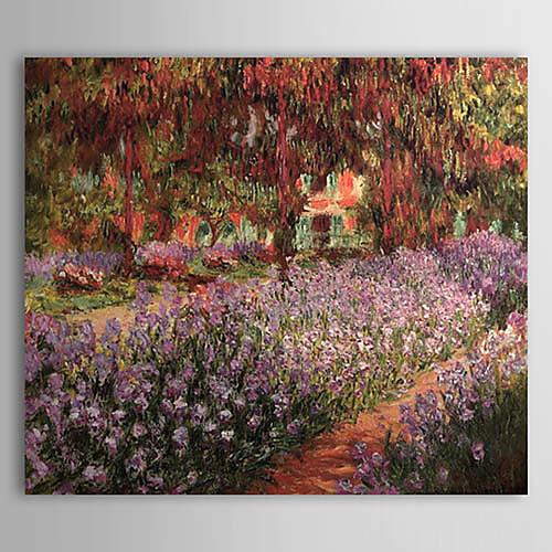 ручная роспись маслом сад Клода Моне с вытянутыми кадра Lightinthebox 3437.000