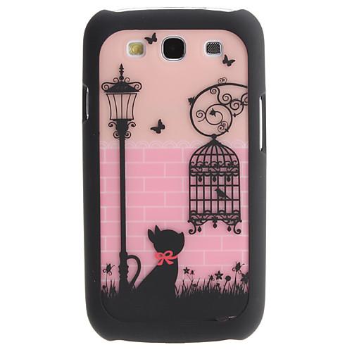 Прекрасные кошки и Birdcage Pattern 2 в 1 съемный жесткий чехол для Samsung Galaxy I9300 S3 Lightinthebox 171.000