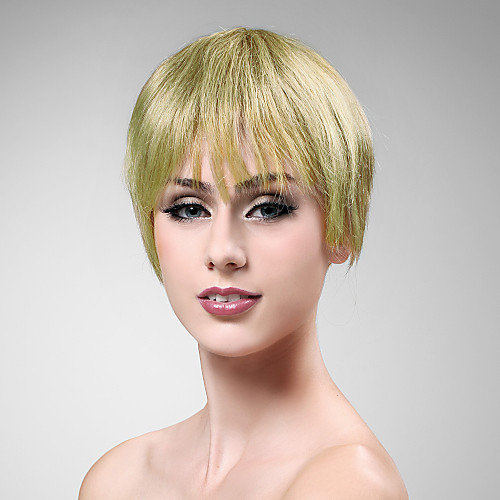 100% человеческих волос короткий парик блондинки прямые волосы Lightinthebox 1718.000