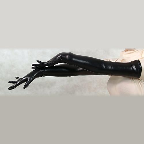 Черный блестящий металлик плеча Длина перчатки (2 шт) Lightinthebox 429.000