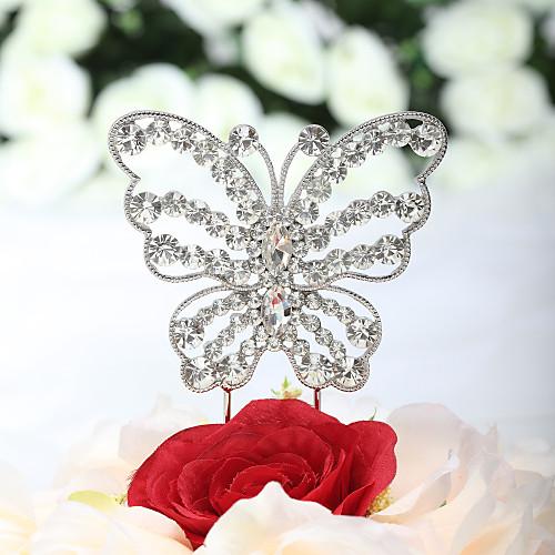 Красивый горный хрусталь бабочка торт Топпер Lightinthebox 644.000