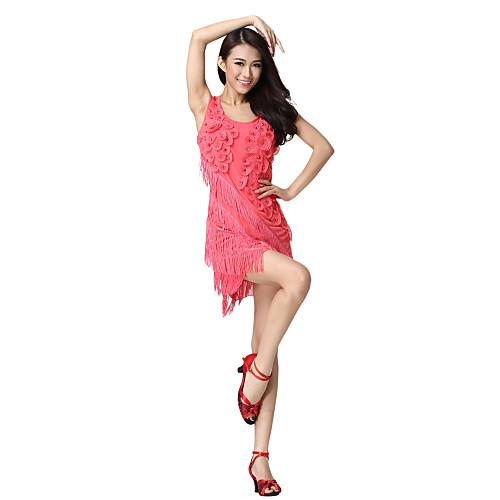 Платье танцевальное женское из тюли с цветами в стиле латино (цвета в ассортименте) Lightinthebox 816.000