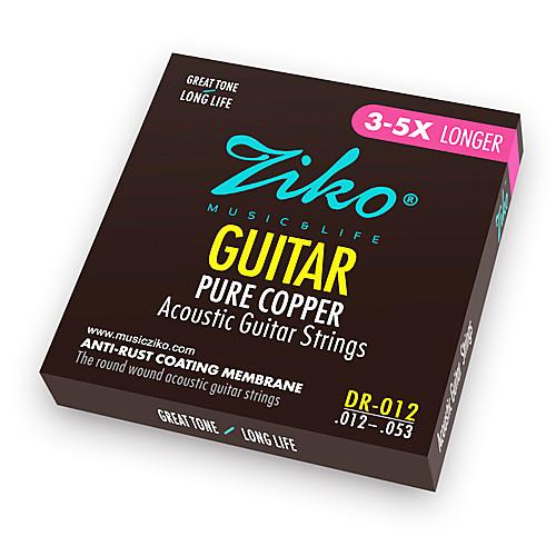 ZIKO - (DR012) Чистая медь акустической гитары Струны (012-053)