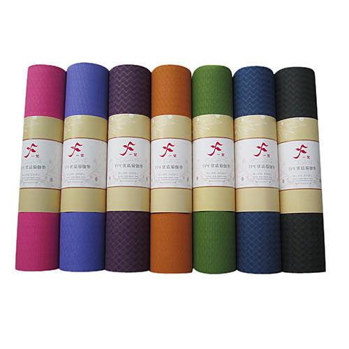 Однотонный коврик для йоги из термоэластопласта, размер 183610.6 см, цвета в ассортименте Lightinthebox