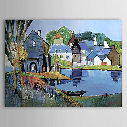 ручная роспись масляной живописи пейзажа с натянутой кадра Lightinthebox 3136.000