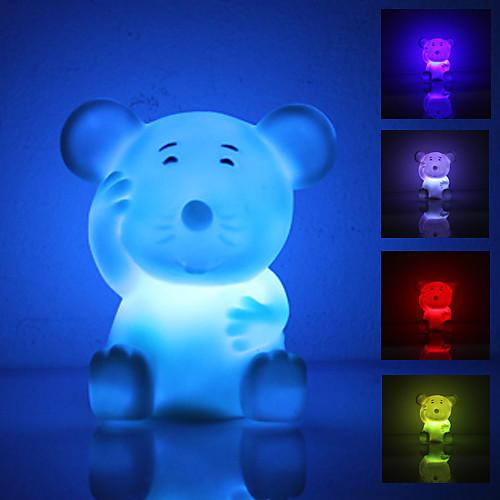 Милый светодиодный ночник в виде мыши (3xLR44)