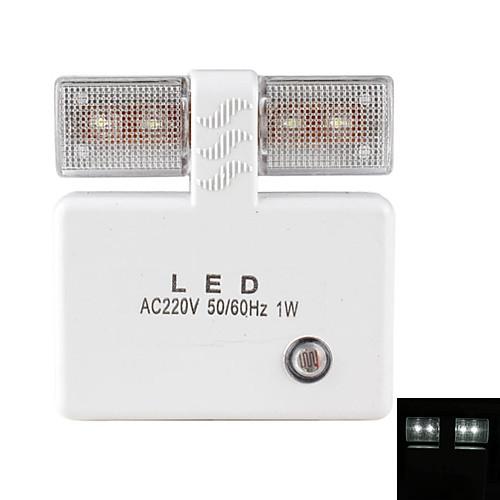 датчик света 1W белый свет привел ночной лампы (220)