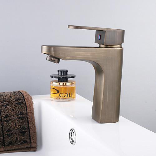 Centerset антикварные латуни одной ручкой отделка ванной раковина смеситель Lightinthebox 2964.000