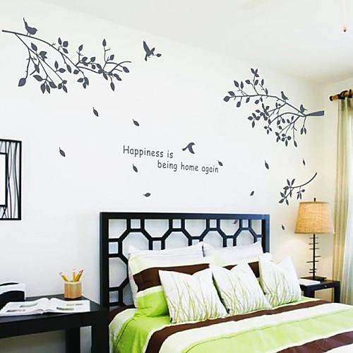ботанические поделок наклейки слова настенные Hapiness деревьев стирать рисунки в Lightinthebox 858.000