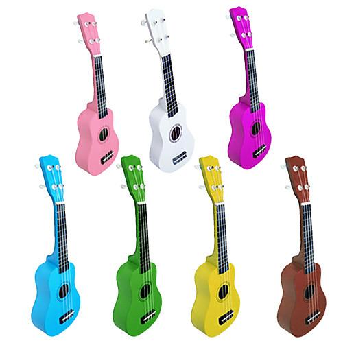 липа укулеле сопрано со строками / кирки (многоцветные) Lightinthebox 1374.000