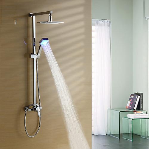 изменение цвета привело душа с 8-дюймовым голову душ  ручной душ Lightinthebox 10312.000
