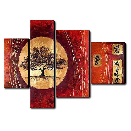 Ручная роспись пейзаж маслом Набор из 4-1211-LS0228 Lightinthebox 6445.000