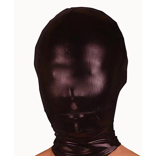 Черная блестящая металлическая маска с открытия рта молнии Lightinthebox 343.000