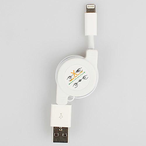 8-контактный выдвижной Кабель синхронизации и зарядки на мобильный 6 iPhone 6 плюс iPhone 5, Ipad мини, Ipad 4, плеерах (белый, 80см макс) Lightinthebox 300.000