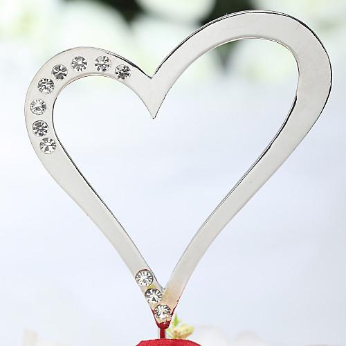 В форме сердца со стразами Свадебный торт Топпер Lightinthebox 269.000