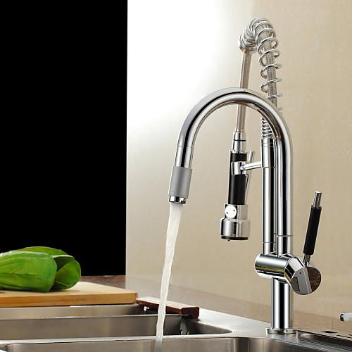 Весной твердый латунный вытащить кухонный кран - отделкой Lightinthebox 5156.000