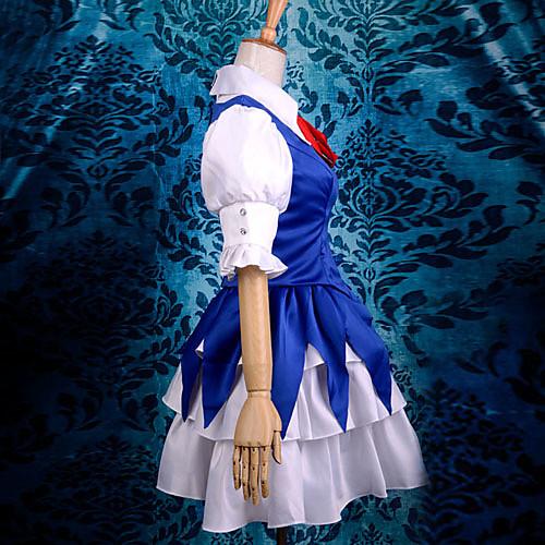 косплей костюм вдохновлен Touhou Project воплощение Scarlet Devil Cirno роскошный атласный Lightinthebox 3007.000