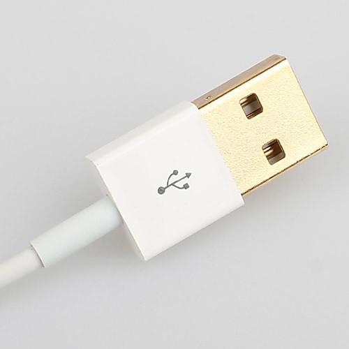 Кабель для зарядки и синхронизации с позолоченным разъемом Lightning 8Pin USB для iPhone 5, iPad Mini, iPad 4, iPod (белый, 100 см) Lightinthebox 85.000