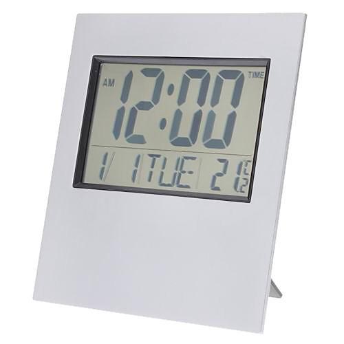 LCD цифровые настольные/настенные часы. Показывают время, дату, температуру. Есть таймер и будильник (2xAA) Lightinthebox 575.000