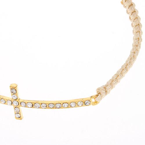 Золотой крест ручной вязки браслет Lightinthebox 128.000