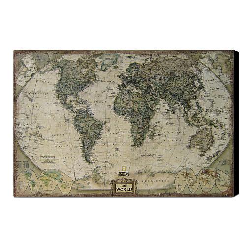 Печатные Art Vintage Карта Мира белье 1212-0149 Lightinthebox 3007.000