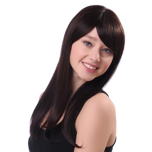 Монолитным длинные прямые Браун 100% человеческий волос парики
